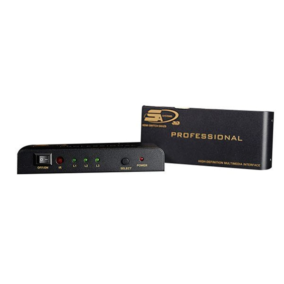 5AZHB 1080P 3D video HDMI 1.4 switch 3 port  (3 to 1 )