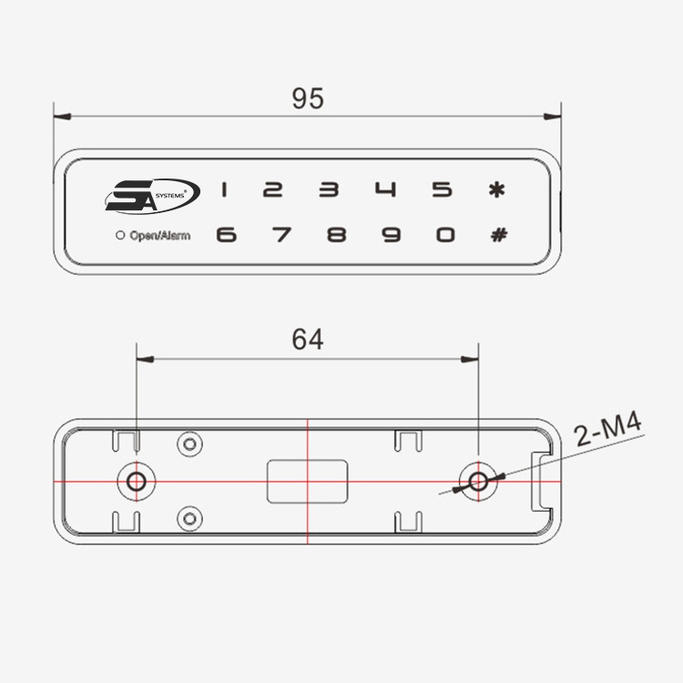 FINGERPRINT DRAWER LOCK - CABINET LOCK PREMIUM 5A F001